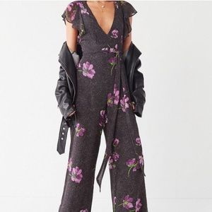Urban Outfitters Gratilda Ruffle Backless Jumpsuit